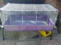 "gunie pig /rabbit cage 39""x21""x18""inches good condition"