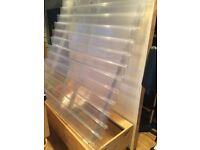 Sell it yourself Greetings card stand 4ft x 5ft with 13 rows. With 2 storage draws