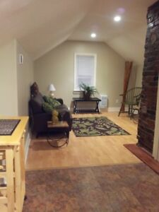 gorgeous, freshly painted, upper, one BR Country apartment