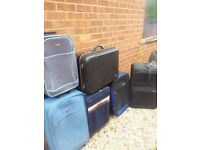 JOBLOT 6 SUITCASES ALL GOOD COND