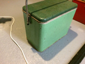Vintage cooler picnic or camping