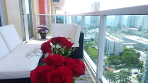 Miami Sunny Isles Beach apartment for rent 2 bedrooms/2 baths