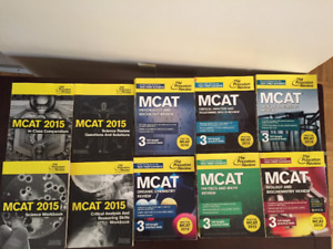 MCAT Princeton Review Subject Books + Practice Books