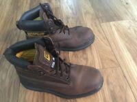 Caterpillar Size Six Steel toe boots