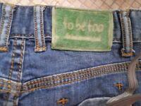 too be too girls short denim pants 9-10 years old