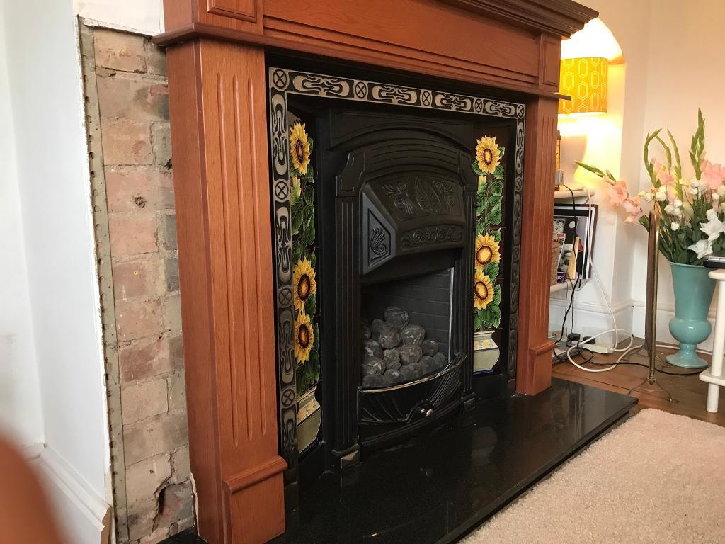 mock victorian cast iron gas fireplace in bourne lincolnshire