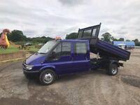 Ford Transit Crew Cab Tipper 350 LWB in Metallic Blue! 3 Way Tipper