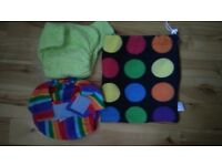 New Minki pocket nappy with insert and a bag and Totsbots nappy size 2