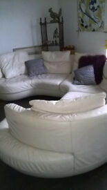 Natuzzi Round Circular Sofa 70s Modular