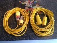 2 x 15M 110 Extension leads