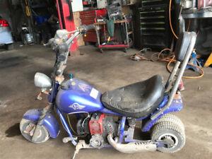 Mini chopper, and pocket bike