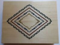 Whispers Docrafts Co Uk Diamond Frame Collection Wooden Rubber Stamp