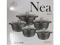 5PC NON STICK DIE CAST PAN SET SIZE 20CM TO 32CM