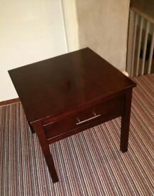 2 Solid mahogany side tables with drawers