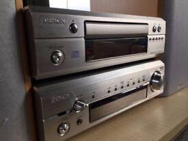 Denon DRA-F101 85W Hi-Fi Stereo Receiver & DCD-F101 CD Player & Denon Speakers
