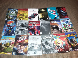 For sale video games manuals all for 25 dollars.