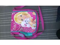 Barbie school bag pink poodle