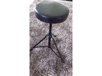 Black PVC Drummer Stool