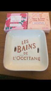 NEW L'Occitane Soap Dish & Soaps