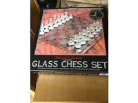 Limited edition Glass chess set. Brand New