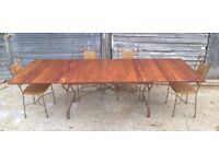 *FREE DELIVERY* Stunning Large Cherry Wood House of Iron Extending Dining Table (farmhouse oak pine)