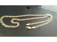 9ct gold fancy link chain