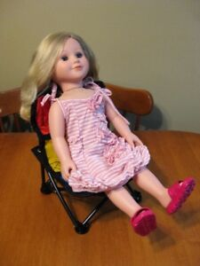 """18"""" MY LIFE DOLL WITH CHAIR AND OUTFIT LIKE AMERICAN GIRL DOLLS"""