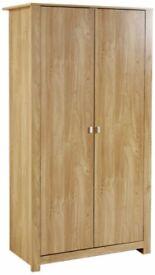Brand New Mountrose Oakdale Wardrobe 2Door Oak Effect