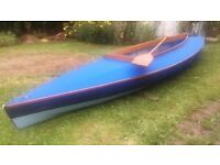 Two man PBK 20 canoe lovingly restored, 1960's classic, light weight, wooden framed, canvas canoe