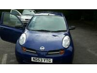 Nissan micra 998 for sale low miles good condition