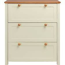 Two tone 3 drawer nursery chest