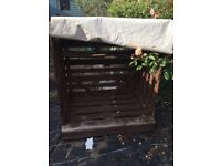 Log Shed Storage wooden Garden £80