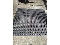 Black garden mats