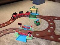 Happyland train set plus expansion pack