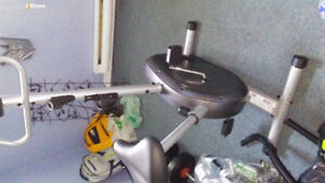 Exercise bike / free weights