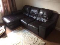 Soft leather 3 piece suite