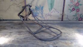 Antique estate made wrought iron saddle rack lovely patina copper rivets interiors garden surrey
