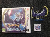 Pokemon moon game for Nintendo 3ds and Lunala figure