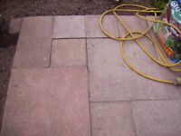 Paving slabs - free slabs approx 35 - 40, 1 foot slabs, approx 10, 2 foot slabs and a few 2 by 1 ft