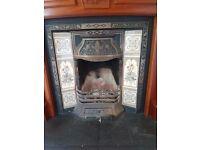 Cast Iron tiled Fireplace insert