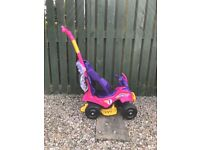 Ride on toy with long handle