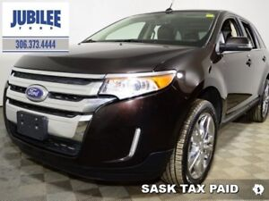 2014 Ford Edge Limited   - sk tax paid - one owner - Leather Sea