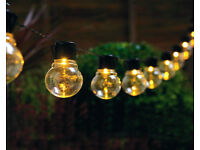 💡 Bright & beautiful!! 💡 10 LED glass bulb garden string lights.