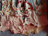 Large bundle of baby girl clothes