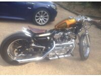 Harley one off 883 bobber