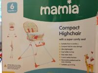 Mamia Highchair - in brand new condition