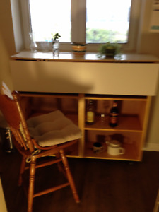 Picton - Bar Height counter/table and shelving unit