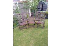 Wooden garden chairs