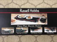 RUSSELL HOBBS 3 Plate Electric Hotray. BRAND NEW in BOX.