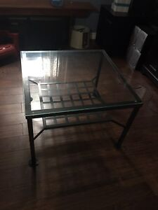 IKEA iron and glass table